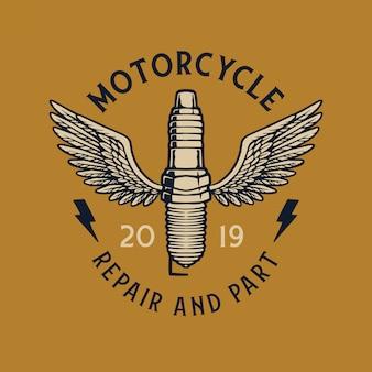 Uitstekende badge van motoren
