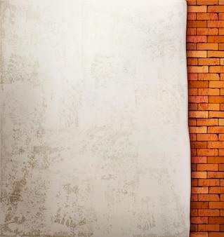 Uitstekende bakstenen muurachtergrond.