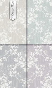 Uitstekende barokke ornamentreeks, koninklijke victorian achtergrond