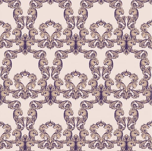 Uitstekende barokke rijke patroonachtergrond vectorillustraties