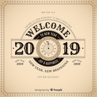 Uitstekende gelukkige nieuwe jaar 2019 achtergrond