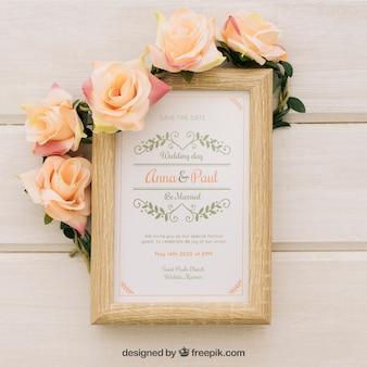 Uitstekende huwelijksuitnodiging