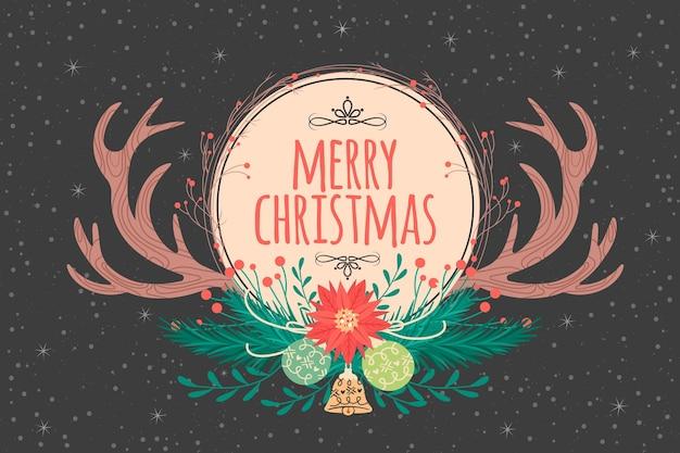 Uitstekende kerstmisachtergrond met bollen
