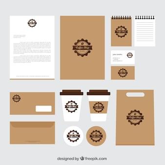 Uitstekende koffiebar branding briefpapier