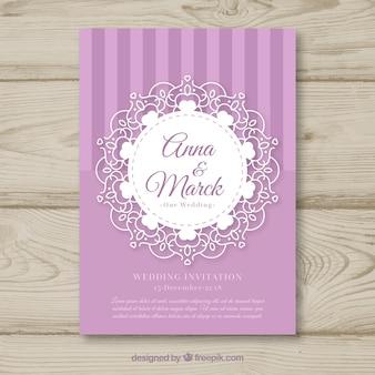 Uitstekende trouwkaart met leuke stijl