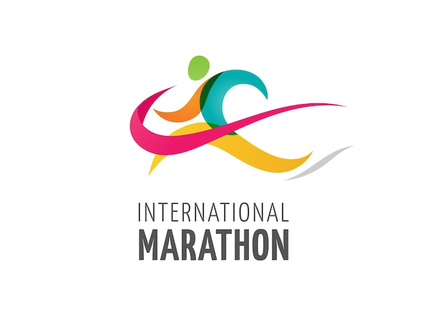 Uitvoeren pictogram symbool marathon logo