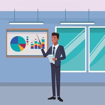 Uitvoerend zakenmanbeeldverhaal