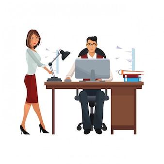 Uitvoerende bedrijfs geïsoleerde medewerkers