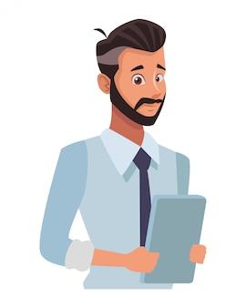 Uitvoerende zakenman cartoon