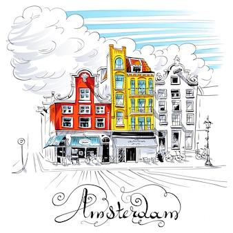 Uitzicht op de stad van amsterdamse gracht