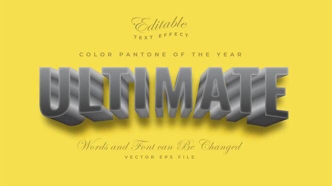 Ultieme grijze kleur pantone 2021 teksteffect