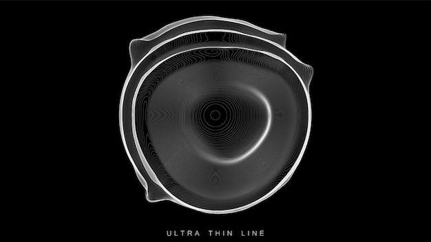 Ultra dunne lijn vloeistofgeometrie