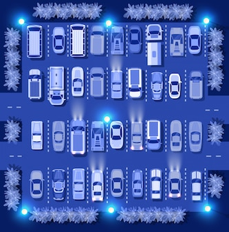 Ultraviolette auto's kaart bovenaanzicht