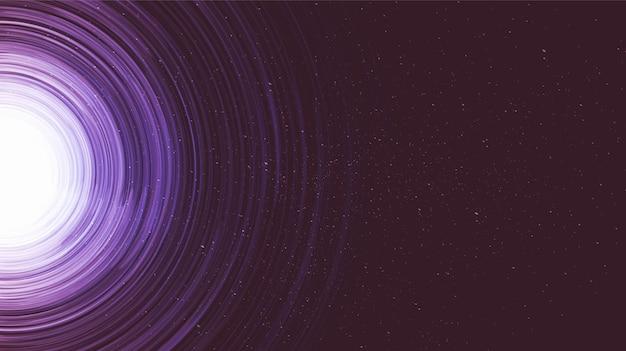Ultraviolette explosie spiraalvormige melkwegachtergrond. planeet en natuurkunde concept.