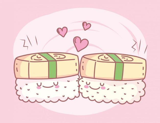 Unagi sushi menu restaurant eten schattig