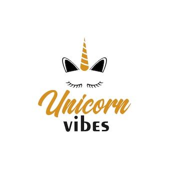 Unicorn citaat belettering typografie