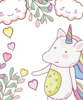 Unicorn cute cartoon
