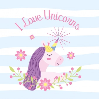 Unicorn fantasy cartoons