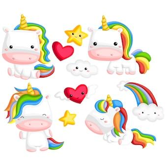 Unicorn image set