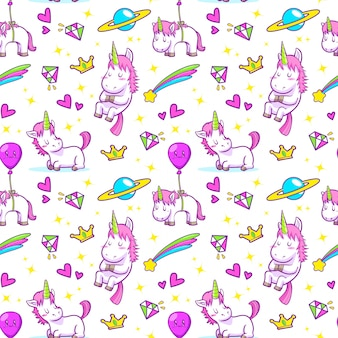 Unicorn naadloos patroon