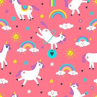 Unicorn naadloze patroon