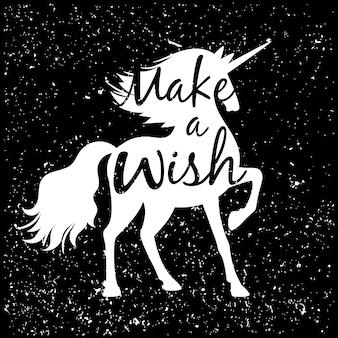 Unicorn silhouet illustratie