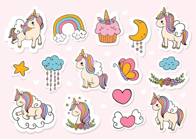 Unicorn sticker planner en plakboek