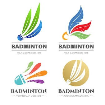 Uniek en creatief badminton-logo
