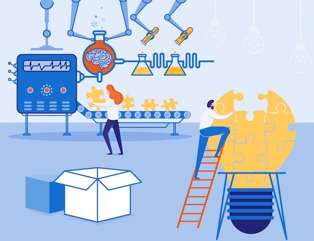 Uniek productieproces voor het creëren van ideeën