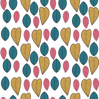 Uniek skandinavisch bloemenschaduwing naadloos patroon