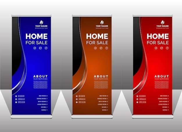 Unieke abstracte premium roll-up banner