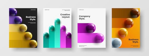 Unieke bedrijfsomslag a4 vector ontwerp lay-out set
