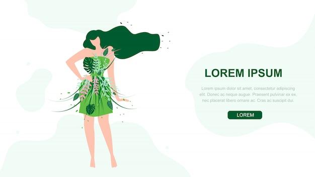 Unieke materialen in kleding vector webbanner