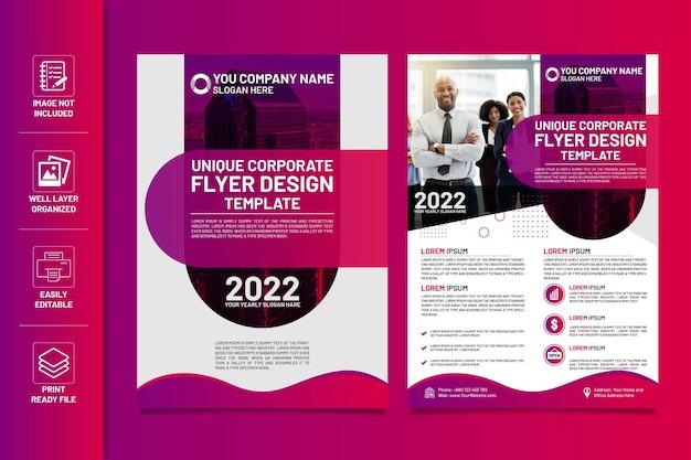 Unieke ontwerpsjabloon voor zakelijke flyers