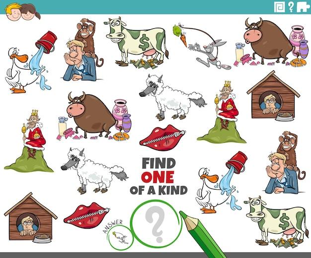 Unieke taak voor kinderen met cartoonuitspraken