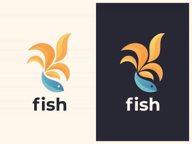 Unieke vis verloop illustratie