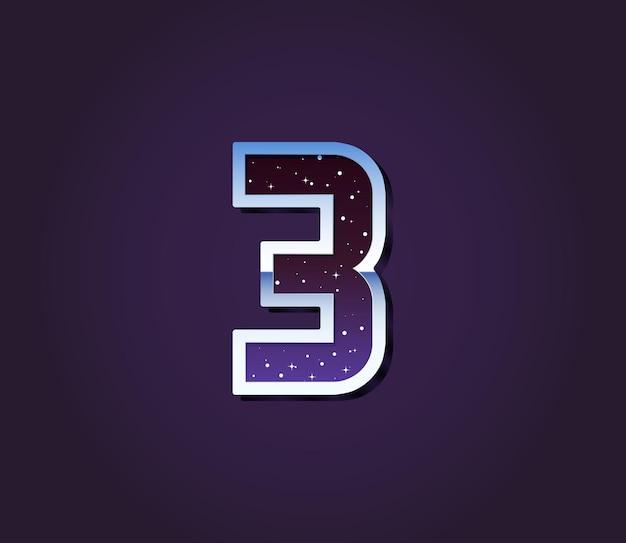 Universe 80s retro sci-fi lettertype cijfernummer vector