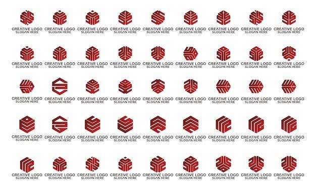 Universele elegante vector teken ontwerp brief zeshoek eerste premie