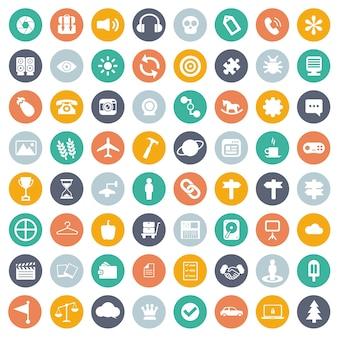 Universele icon set voor websites en mobiele applicaties