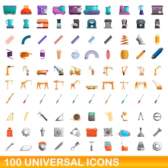 Universele iconen set, cartoon stijl