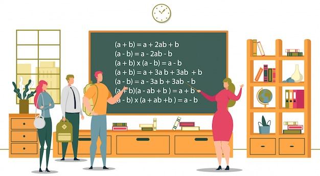 Universitair onderwijs en academische school studenten illustratie
