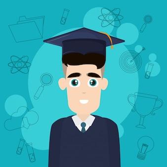 Universitaire studentenbeeldverhaal