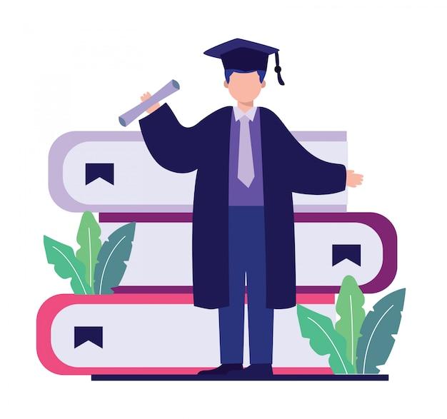 Universiteit afstuderen illustratie