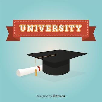 Universiteitsachtergrond met baret
