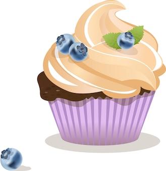 Сupcake geïsoleerde illustratie