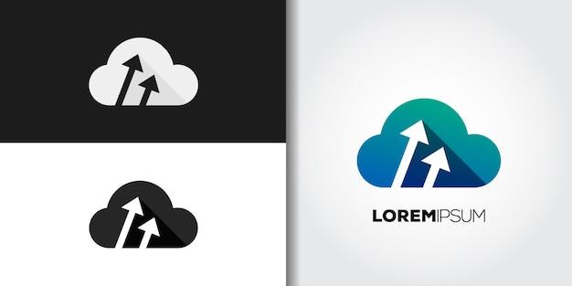 Upload cloud logo set