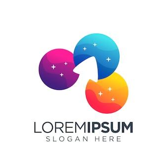 Upload logo eenvoudig kleurrijk