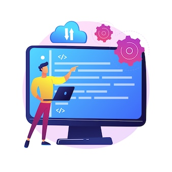 Uploaden naar cloudopslag. draadloze toegang tot informatie. online service, wereldwijde hosting, virtuele ruimte. beschikbare en veilige desktop. geïsoleerde concept metafoor illustratie.