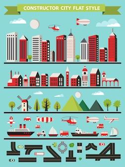 Urban designer-landschappen van de stad