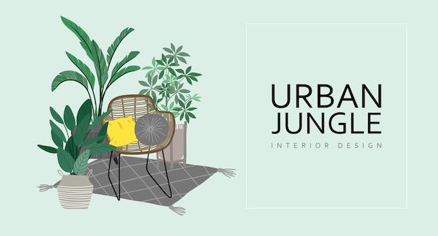 Urban jungle webpagina omslag